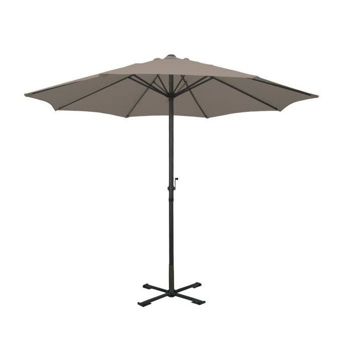 parasol centre gris achat vente parasol ombrage parasol centre gris cdiscount. Black Bedroom Furniture Sets. Home Design Ideas