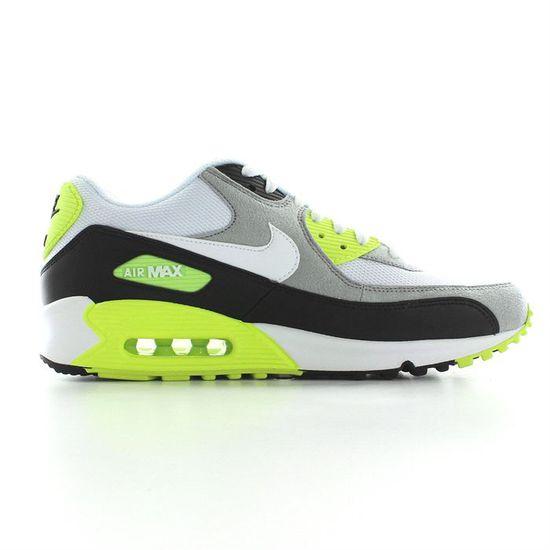 Nike - Air max 90 - H Blanc Blanc, noir, gris et jaune fluo ...