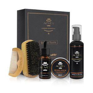 BROSSE - PEIGNE kit de soins de barbe des hommes (Peigne + crème d