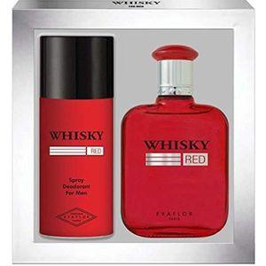 COFFRET CADEAU PARFUM WHISKY Red • Coffret Eau de Toilette 100ML + Déodo