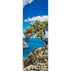 Sticker de porte trompe l/'oeil déco Vue sur mer 594