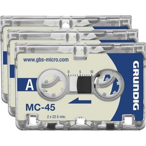 DICTAPHONE - MAGNETO. Grundig Business Systems micro-cassette MC 45 Duré