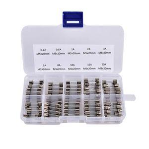 20fus013 5x lot Fusibles verre 5x20mm lent T5A 250v 5A