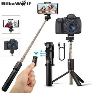 PERCHE - CANNE SELFIE BlitzWolf 4 EN 1 Perche Selfie Trépied avec Téléco