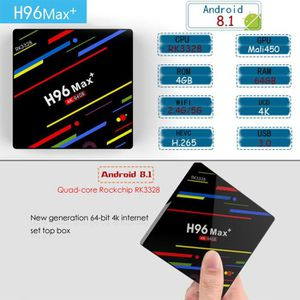 BOX MULTIMEDIA H96 Max Android 8.1 TV Box RK3328 Quad-Core 4G RAM
