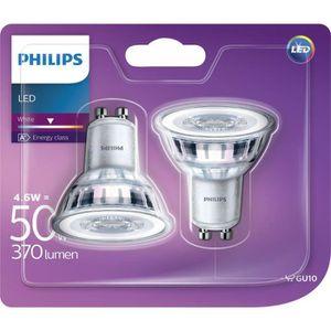 SPOTS - LIGNE DE SPOTS PHILIPS Spot LED GU10 - 4,6 W équivalent à 50 W -