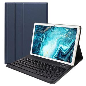 HOUSSE TABLETTE TACTILE Etui en Cuir Bluetooth pour Huawei Mediapad M6 10.