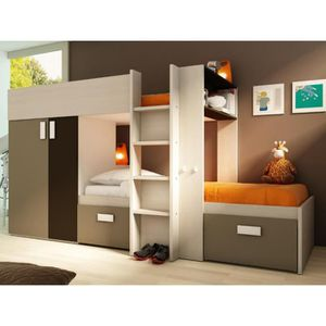 lit superpose angle achat vente lit superpose angle pas cher cdiscount. Black Bedroom Furniture Sets. Home Design Ideas