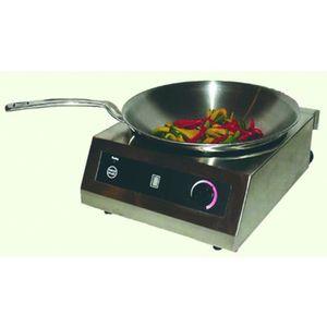 PLAQUE INDUCTION Plaque à induction avec wok - L385 x P422 x H150 m