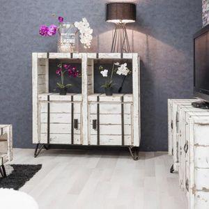 BUFFET - BAHUT  Buffet de salon en mindi LOFT blanc 114 cm