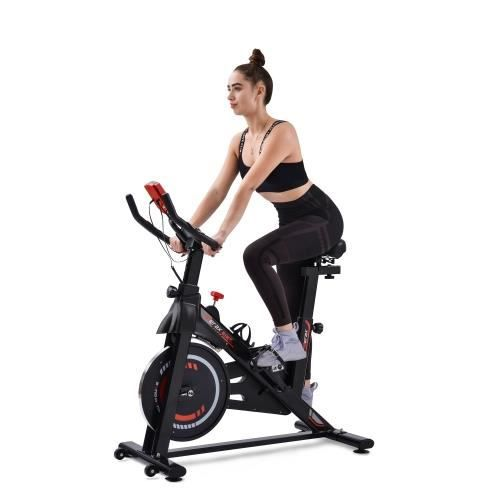 Velo appartement Vélo biking spinning intérieur fitness avec Magnetwiderstand , Roue inertie 6kg, Charge Max 150kg - JAUNE