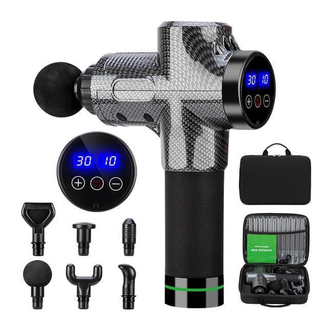 Pistolet de massage haute fréquence, relaxation corporelle, masseur électrique avec sac de sport portable