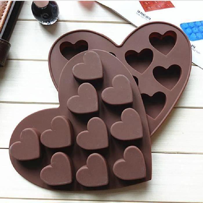 ouniondo Silicone Ice Cube Tray Facile Pop Maker Coeur Forme Cubes Moule Saint Valentin Cadeau_love2429 Bi14266