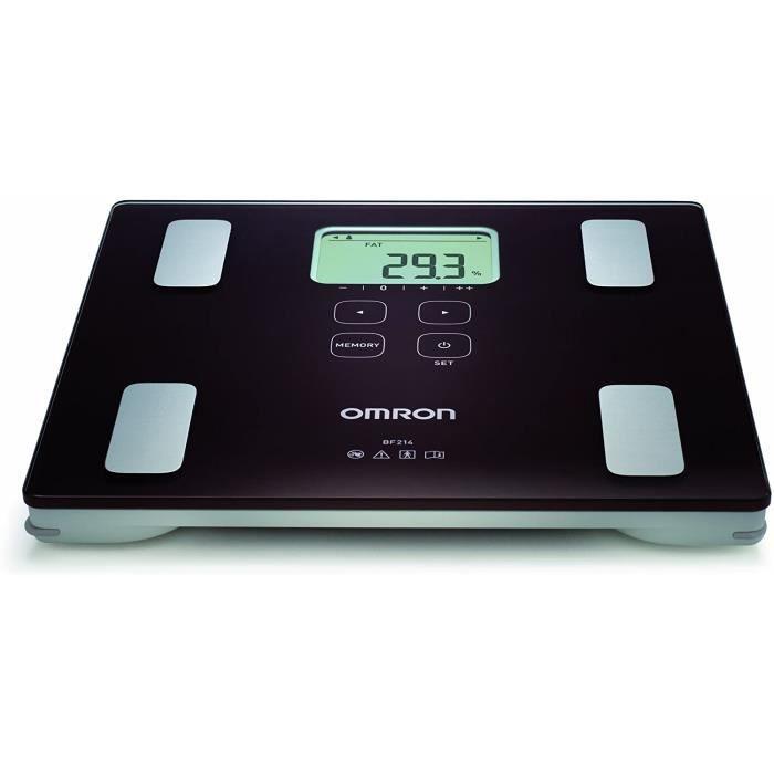 OMRON BF-BF214 Balance, composition corporelle complète, indication du niveau de graisse corporelle, graisse viscérale, IMC, masse m