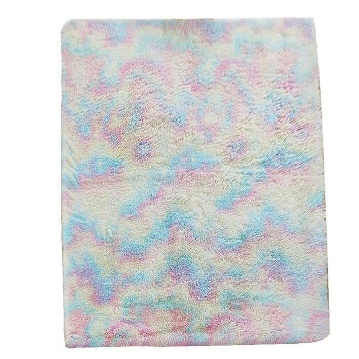 YepYes Rainbow Kids Tapis Fuzzy Tapis molleton coloré pour les filles Chambre Nursery Salle de jeux Salon (100x200cm)
