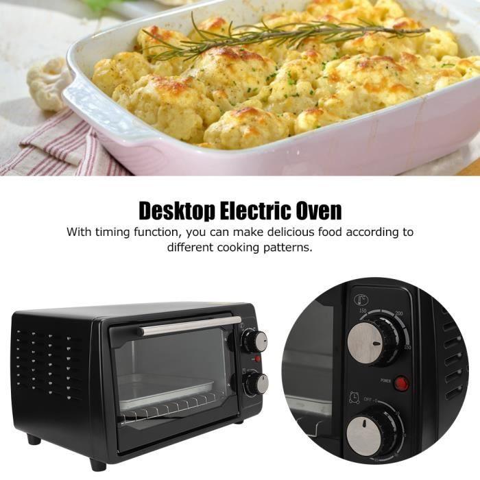 Petit Four Électrique de Bureau Multifonction 800W 10L Machine de Cuisson Ménage Appareil de Cuisine(EU 220V ) 250 ℃ -ROE