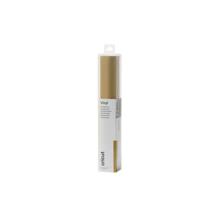 Cricut - Rouleau premium vinylt permanent doré - 30,5 x 122 cm
