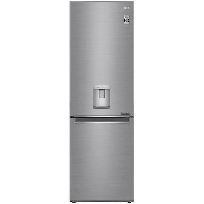 Combiné 337L (230+107) - Total No-Frost - Door Cooling - Distrib. eau-Inverter-H186/L59,5-Platinium