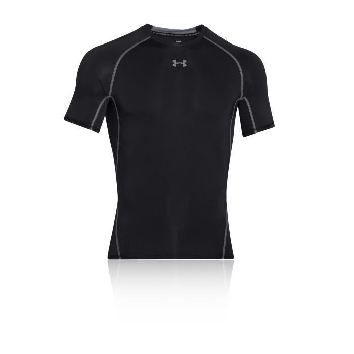 Under Armour Heatgear Compression T-Shirt Manche Courte Noir Homme