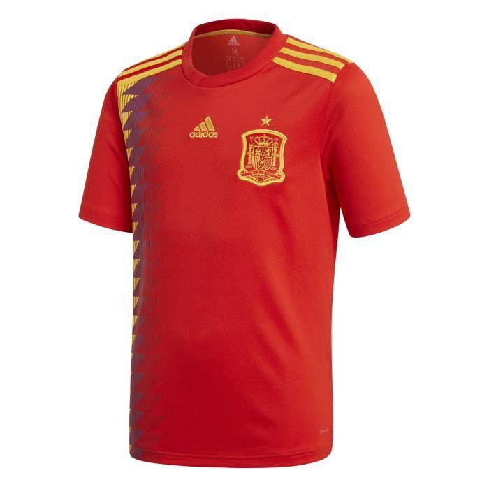 ADIDAS Maillot de football Espagne - Enfant Garçon - Rouge