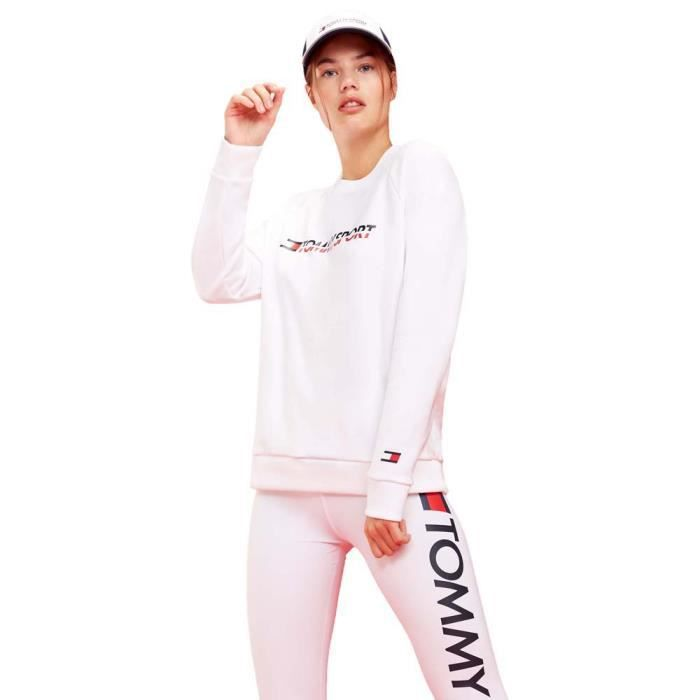 Vêtements femme Chandails Tommy Hilfiger Sportswear Crew Neck Chest Logo