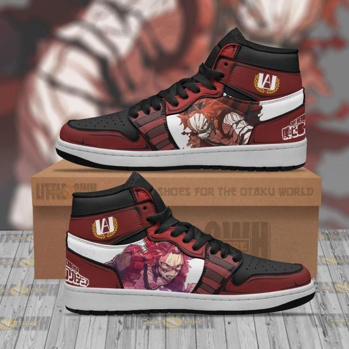 Baskets Eijiro Kirishima JD My Hero Academia Anime Chaussures de course pour Homme Femme