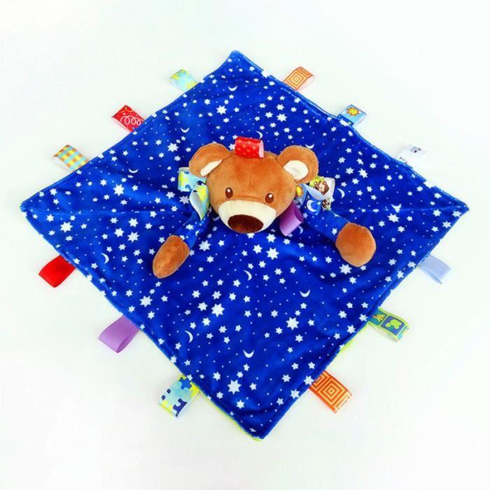 1PC bébé sucette serviette apaisant jouet à croquer 0-18 mois dormir dessin animé tapis d'eveil - aire d'eveil jouet age