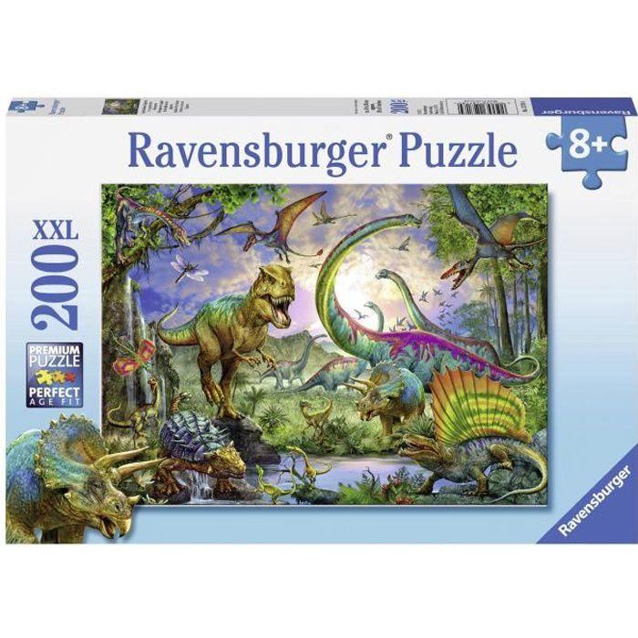 Puzzle 200 pièces XXL - Le royaume des dinosaures - Ravensburger - Puzzle Enfant 200 pièces - Dès 8 ans