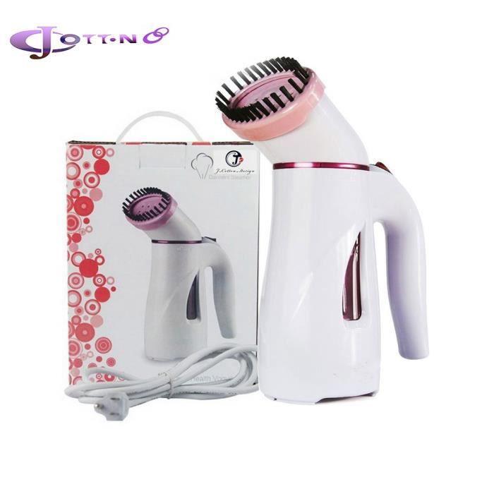 Travel Steamer Défroisseur de voyage,Mini Handheld Textile and Fabric Steamer,portable Mini Travel Clothes Steamer de Couleur Rose