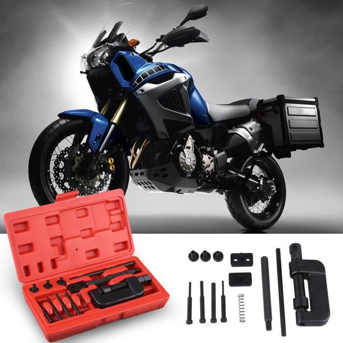 VGEBY Kit rivé dérive chaîne moto acier Moto Rivetage extracteur separateur robuste HB005