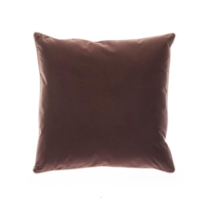 coussin de chaise ext rieur 45x45 cm marron achat vente coussin de chaise cdiscount. Black Bedroom Furniture Sets. Home Design Ideas