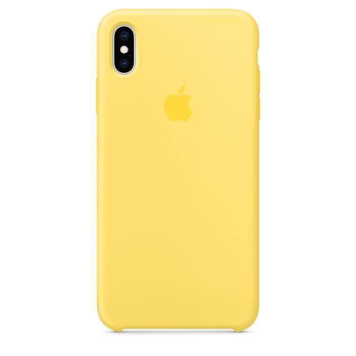 apple coque en silicone pour iphone x xs jaune ca