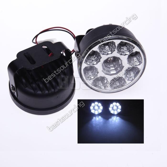 MagiDeal Feux de Signalisation DC12V LED Chips Feux de Jour Brouillard T20 7443