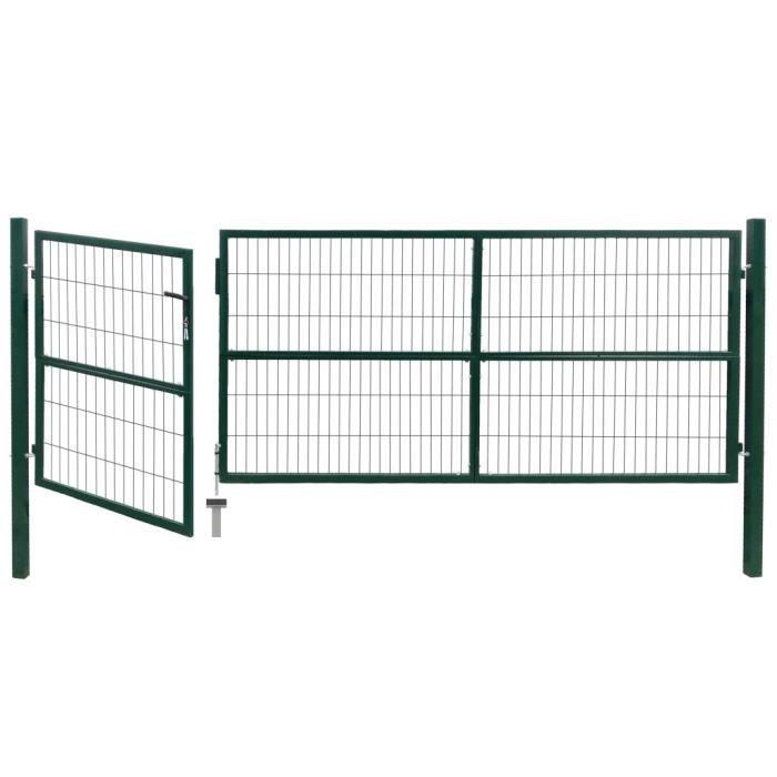 Kit de grillage grille clôture de jardin portail de jardin barrière en acier