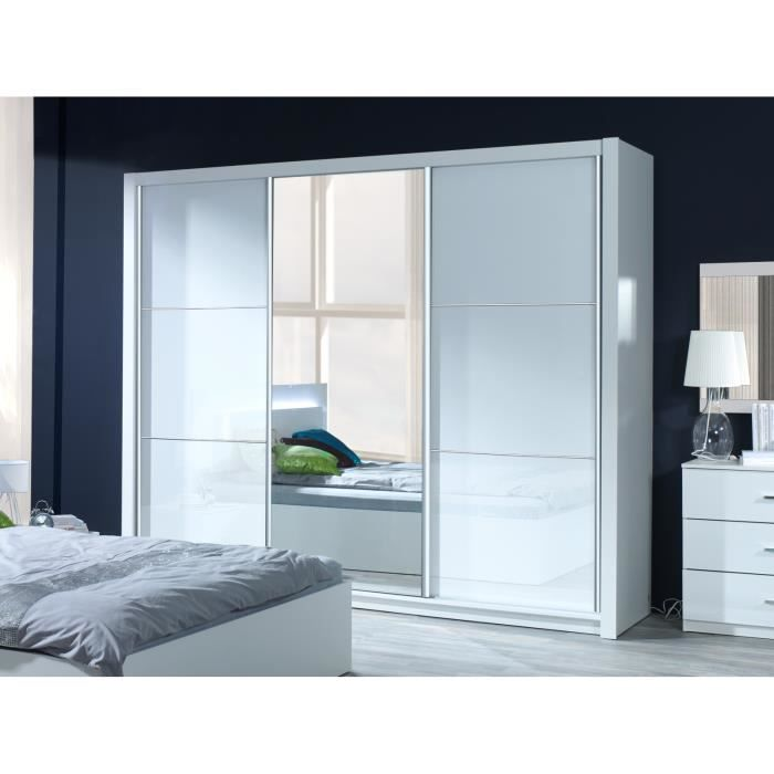 cocoon armoire 3 portes coulissantes 200 achat vente armoire de chambre cocoon armoire 3. Black Bedroom Furniture Sets. Home Design Ideas