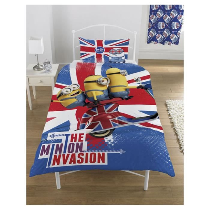 housse de couette minion union jack. Black Bedroom Furniture Sets. Home Design Ideas