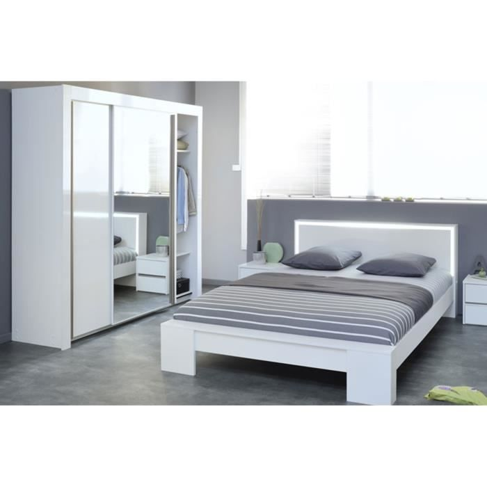 Chambre compl te weston lit design 160 cm tab achat for Lit design complet