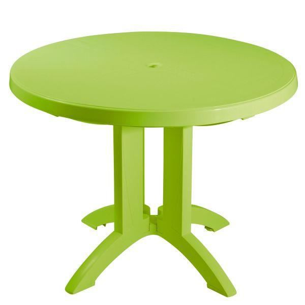 table ronde de jardin vega grosfillex citron vert. Black Bedroom Furniture Sets. Home Design Ideas