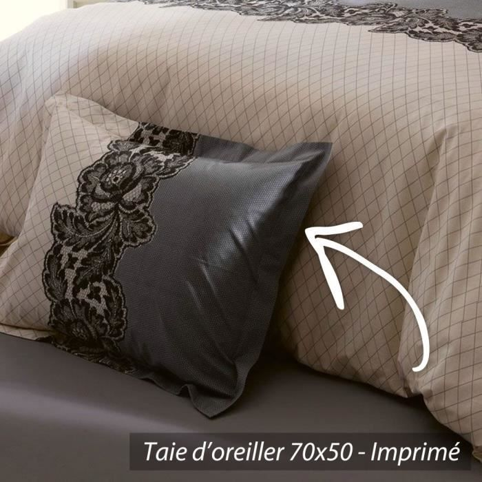 taie d 39 oreiller 70x50cm 100 coton malice achat vente taie d 39 oreiller cdiscount. Black Bedroom Furniture Sets. Home Design Ideas