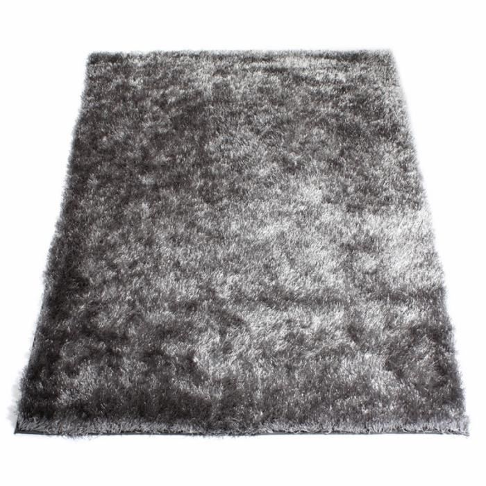 tapis shaggy gris acier 60 x 120 cm achat vente tapis soldes d s le 10 janvier cdiscount. Black Bedroom Furniture Sets. Home Design Ideas