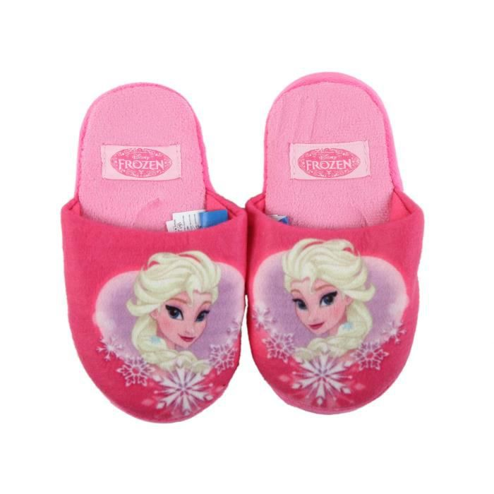 disney reine des neiges chaussons pantoufles fille rose rose rose achat vente. Black Bedroom Furniture Sets. Home Design Ideas