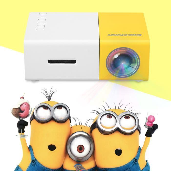 Vidéoprojecteur Vidéo Projecteur Portable HD-Excelvan YG300-Vidéop