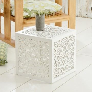 Bout de canap teck sculpt table basse chevet achat - Table basse bout de canape ...