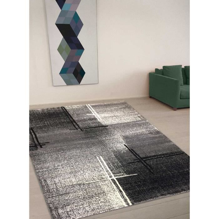 tapis tapis salon en polypropylene yenidez 04 gris 80x150 par unamourdetapis 80 x 150 cm gris. Black Bedroom Furniture Sets. Home Design Ideas