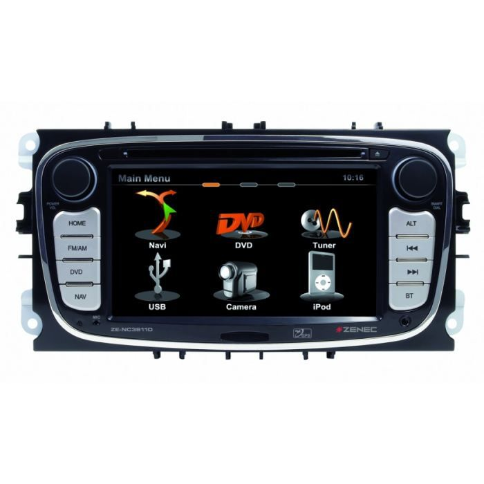 autoradio zenec gps dvd ze nc3811 ford focus mo achat vente autoradio ze nc3811d autoradio. Black Bedroom Furniture Sets. Home Design Ideas