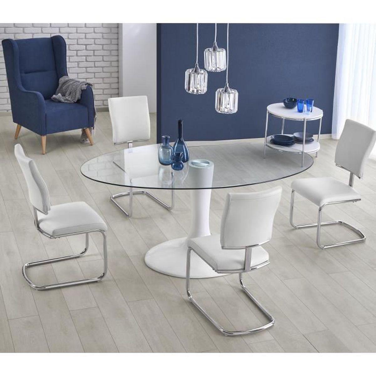 TABLE À MANGER SEULE TABLE A MANGER OVALE  – L : 180 CM X P : 100 CM X