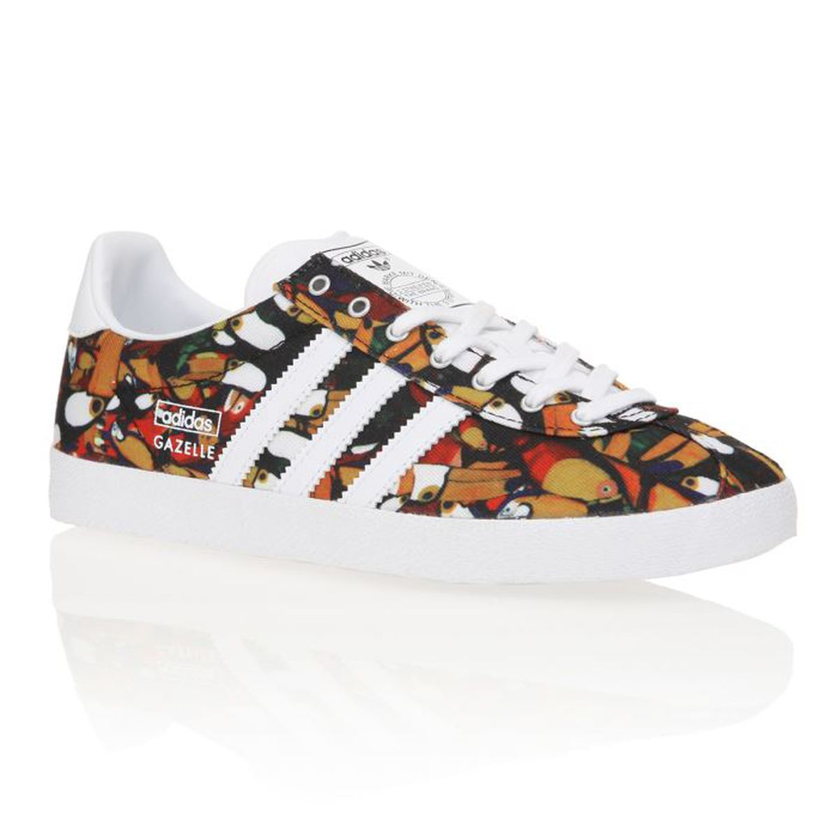 adidas originals baskets gazelle og femme femme jaune multicolore achat vente adidas. Black Bedroom Furniture Sets. Home Design Ideas