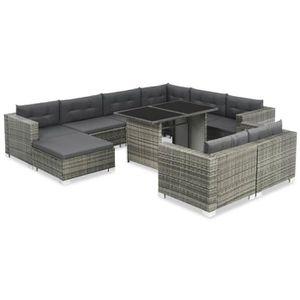 Ensemble table et chaise de jardin HENGL Ensemble de canapé de jardin 28 pcs Résine t