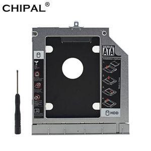 HOUSSE DISQUE DUR EXT. CHIPAL métal 2nd HDD Caddy 9.5mm SATA 3.0 double L