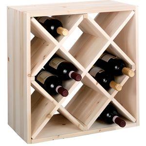 MEUBLE RANGE BOUTEILLE Zeller 13171 Casier à vin en bois naturel forme l
